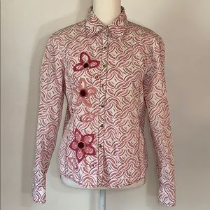 🌸7 Diamonds Womens Button Down Shirt